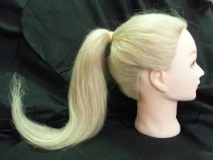 Голова-манекен с натуральными волосами длиной 55 см
